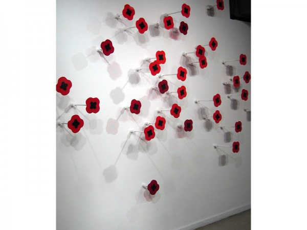 Great Scarlet Carpet, installation artwork by Laura Latimer