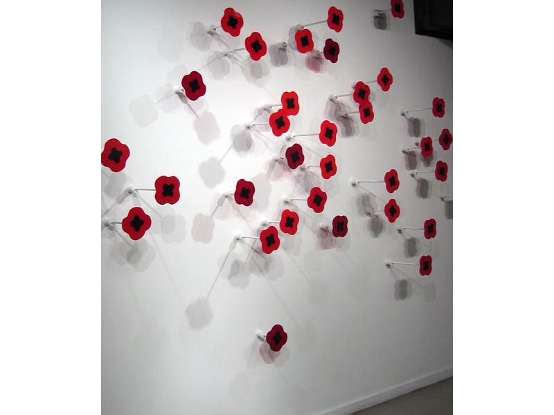 Great Scarlet Carpet, installation artwork by Laura Latimer
