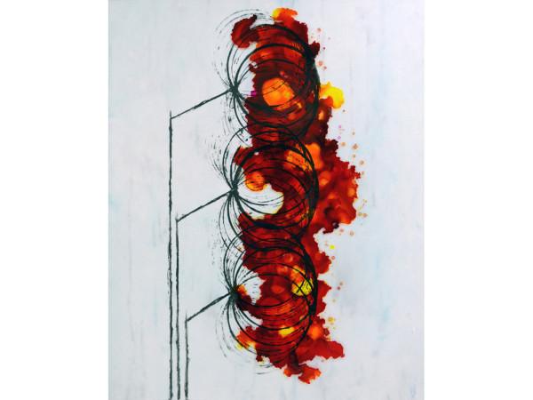 Melting Point, mixed media artwork by Laura Latimer