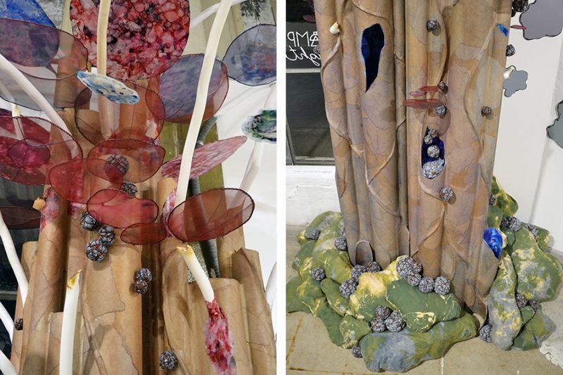 Site-specific sculptural installation by artist Laura Latimer